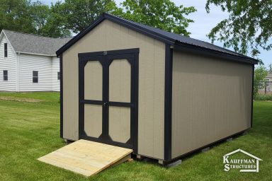 utility shed with ramp add on ia