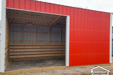 loafing shed red