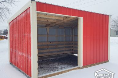 nice red loafing shed