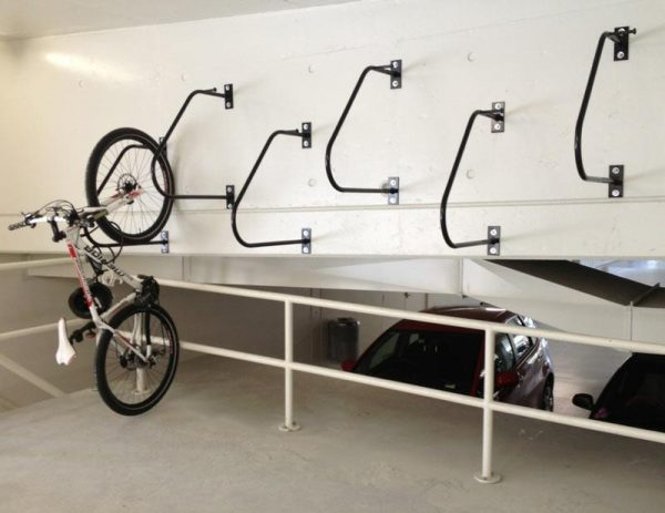 ultra space saving bike rack for bicycle shed