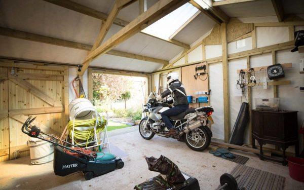 Shed large motorbike