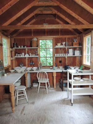 pottery studio workshop shed