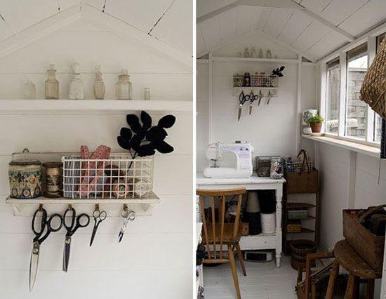 sewing studio workshop shed
