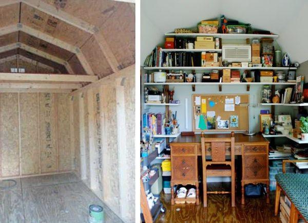 artist studio workshop shed