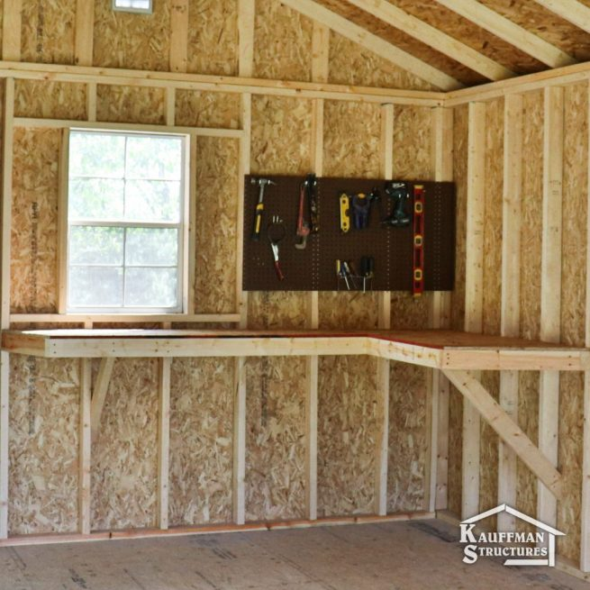 small shed with a workbench 1024x1024